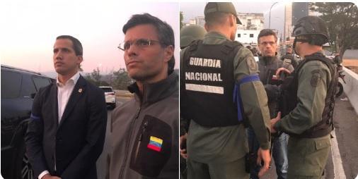 Guaidó libera al líder opositor Leopoldo López, con apoyo de grupo de militares; comienza cese de la usurpación - Noticias Principales de Colombia Radio Santa Fe 1070 am