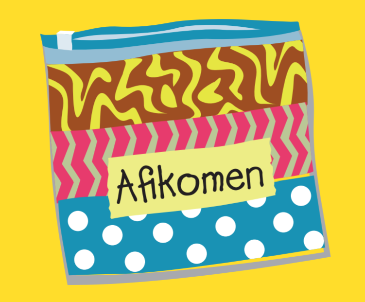 colorful afikomen bag