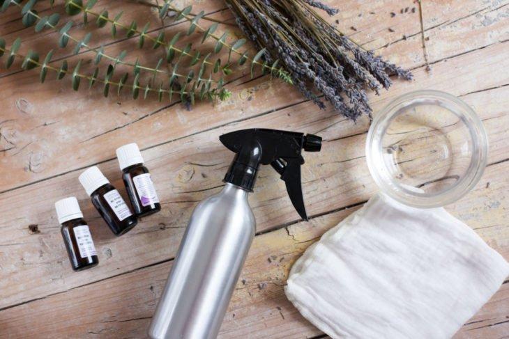 Ingredientes para preparar un abrillantador de muebles