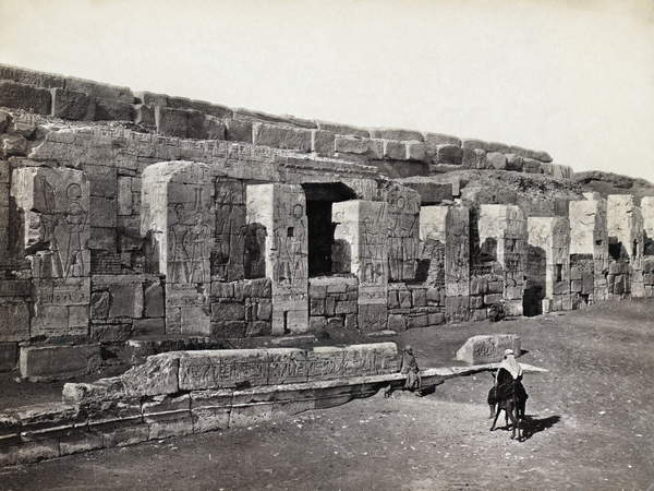 Image of EGYPT: ABYDOS TEMPLE Ruins of a temple at Abydos, Egypt. Photograph by Francis Frith, c. 1860, © Granger / Bridgeman Images