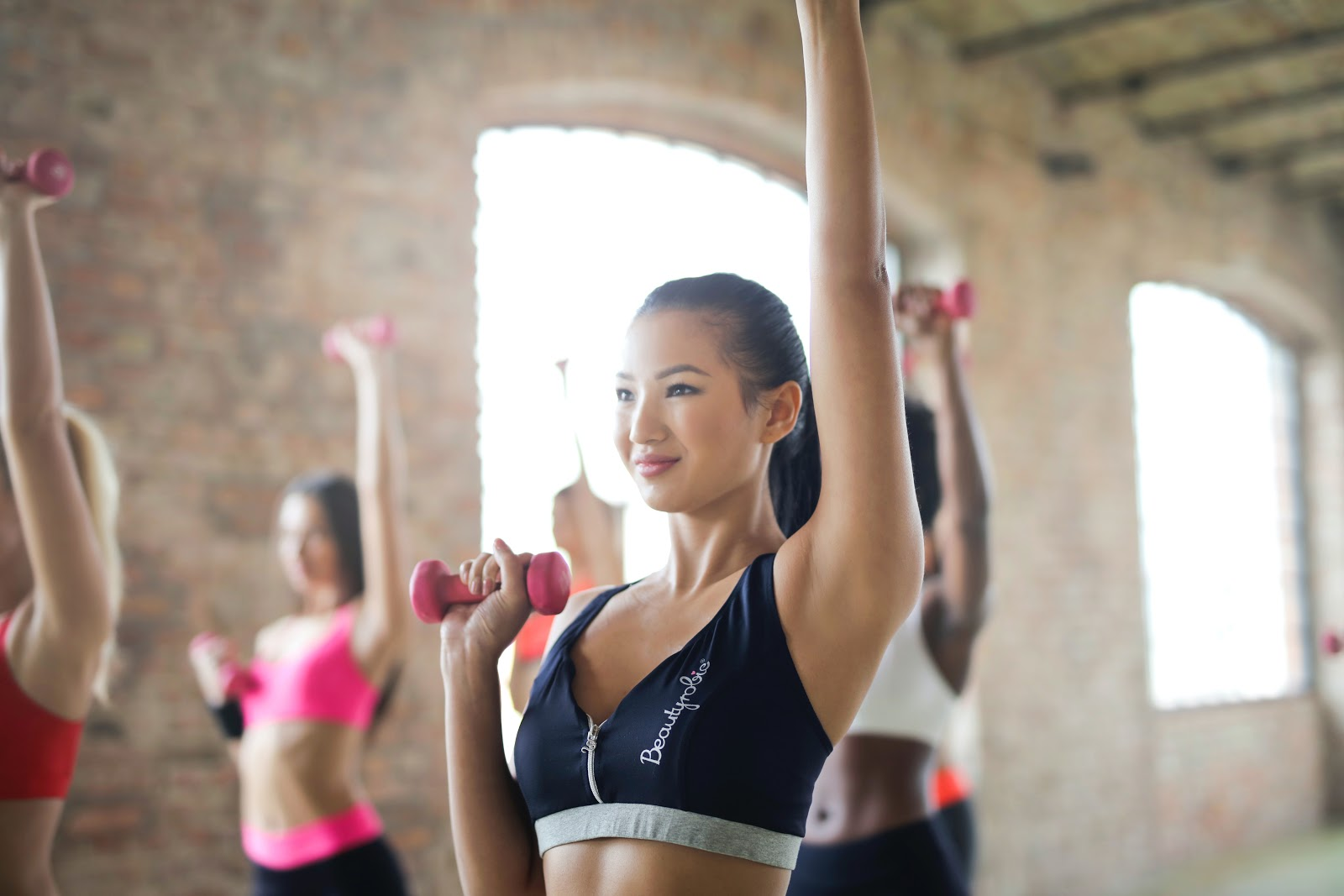 Woman working out to destress