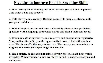 essay on how to improve your spoken english