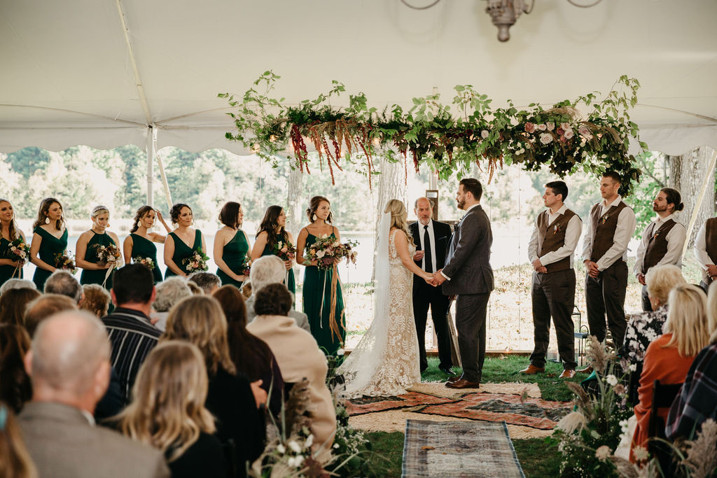 A couple gets married at a wedding venue in Milwaukee, WI.