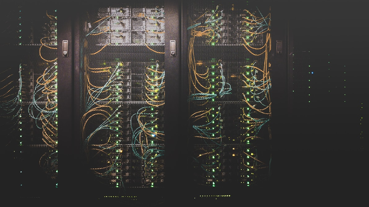Cable network connected to servers