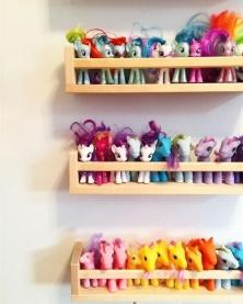 IKEA spice rack- maybe for Emily's barbies since she doesn't have her My Little Ponies anymore?