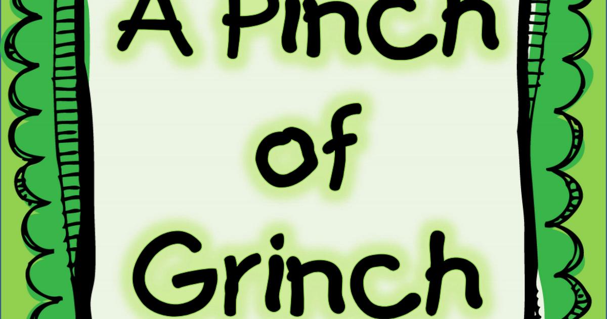 Grinch Unit All Pdf Google Drive