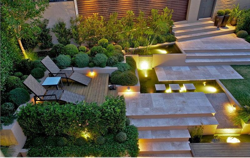 thiết kế sân vườn phong cách cổ điển