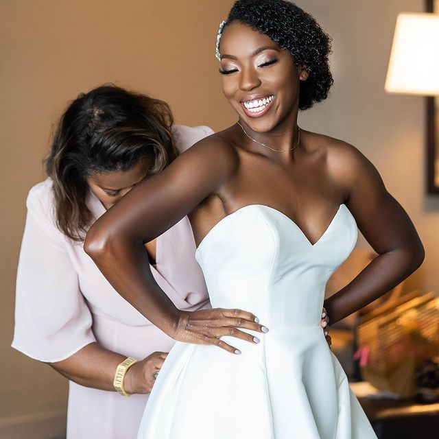 Photo shared by LaJoy Cox   LaJoy Photography on January 13, 2021 tagging @weddingsparrow, @blackbride1998, @brides, @munaluchibride, @southernbridemagazine, @martha_weddings, @weddingsonpoint, @bellanaijaweddings, @chicbrownbride, @mlweddingsatl, @signaturebride, @southernnoirweddings, @blackloveweddings, @bridesofcolor, and @blackbridesdaily. Image may contain: one or more people, people standing and wedding.