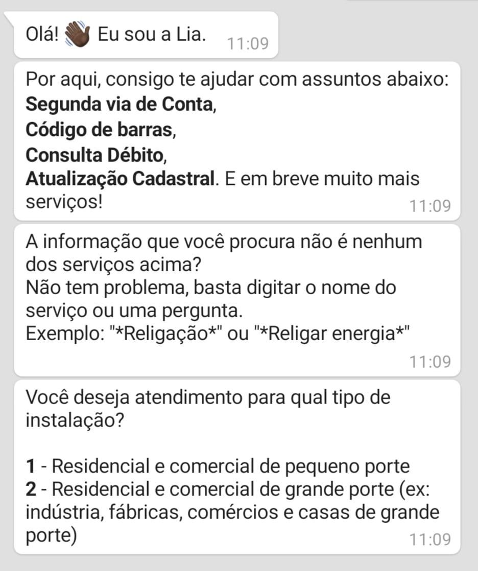 mensagem automática do contato pelo whatsapp