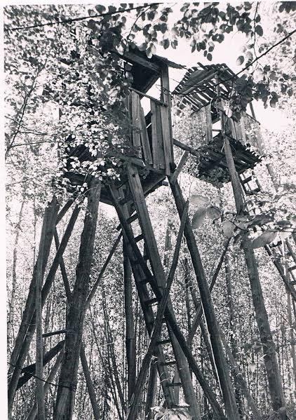 Вышки на границе лагеря - стройка 503