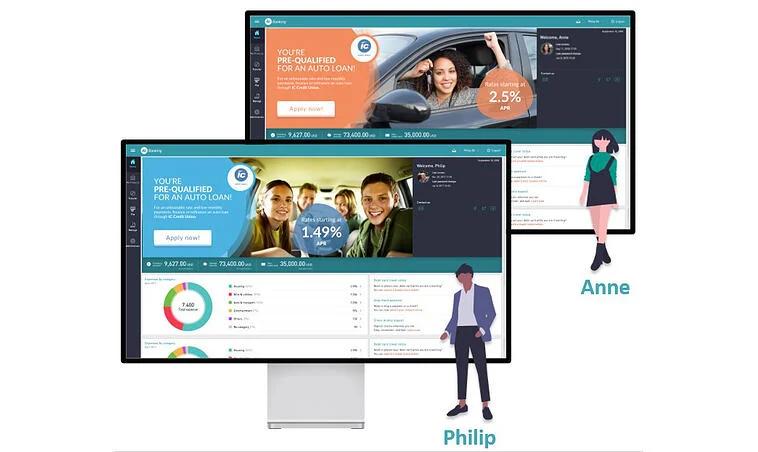 Customer dashboard targeted offer