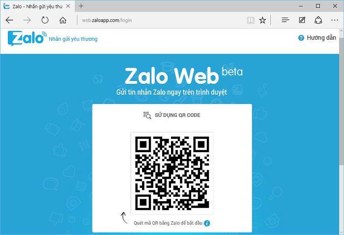 Cách sử dụng zalo web bằng việc quét mã QR