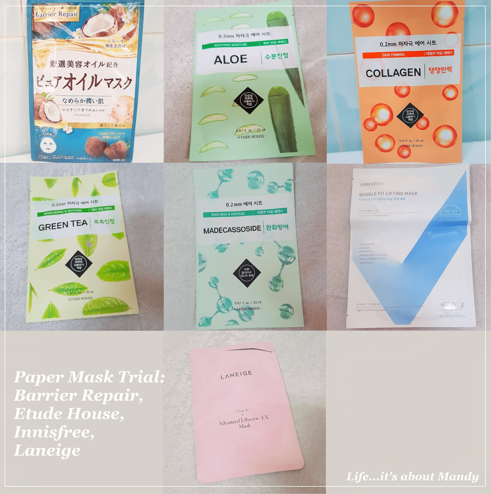 開架面膜調查局(上) Barrier Repair, Etude House, Innisfree, Laneige