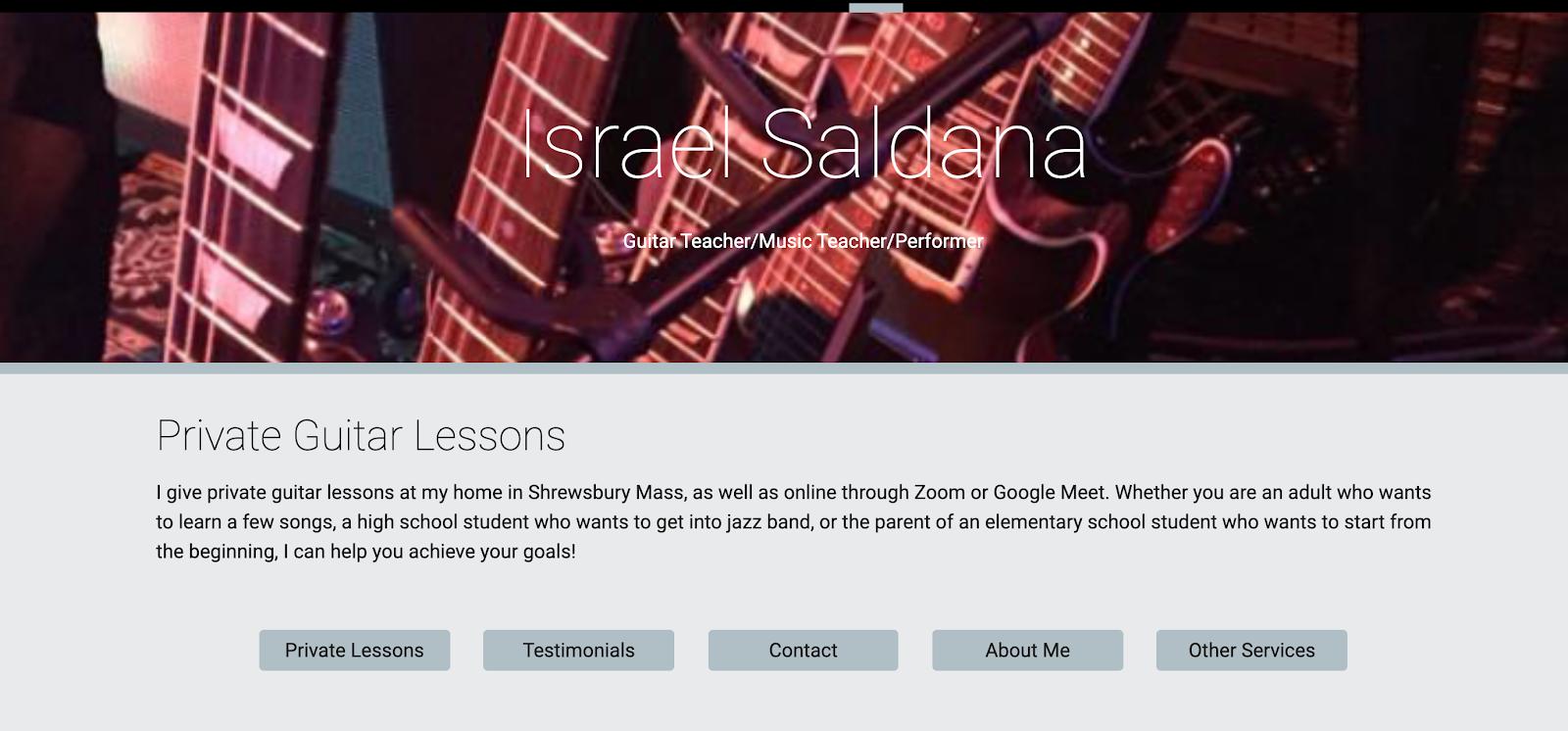 Israel Saldana - Google Sites