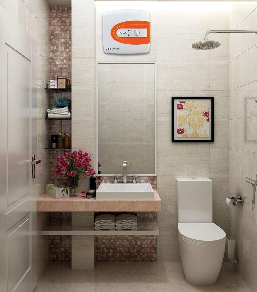 Bình nóng lạnh dung tích phù hợp với nhu cầu sử dụng và không gian phòng tắm