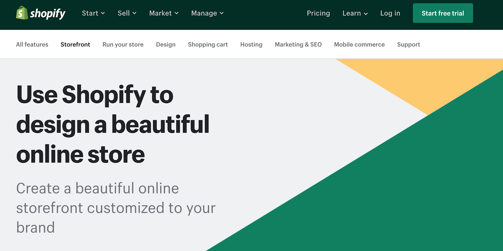 Shopify is one of the biggest competitors to Squarespace