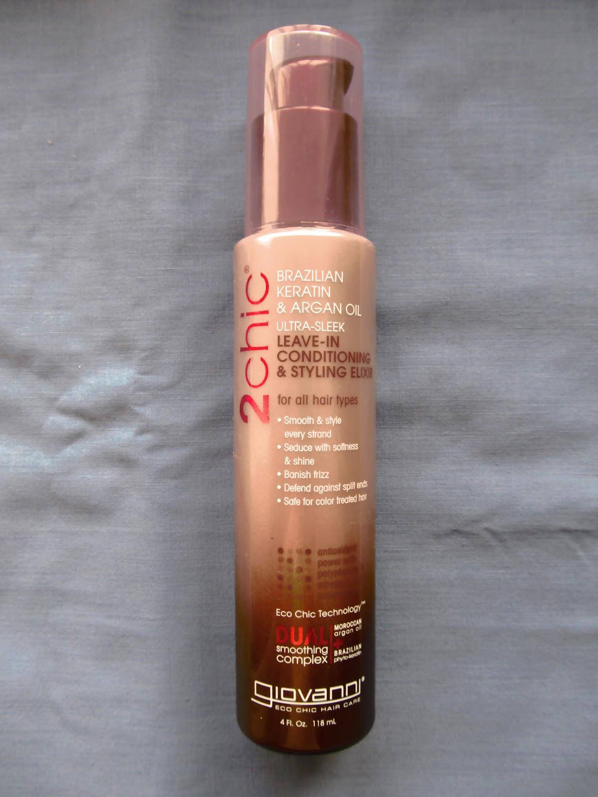 Незмивний кондиціонер Giovanni для гладенького волосся з бразильським кератином і аргановою олією