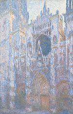 Claude Monet, Cathédrale de Rouen, façade ouest, 1894, huile sur toile, National Gallery of Art, Washington