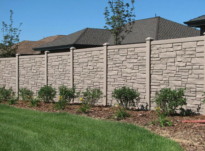 Stone vinyl fence color and texture