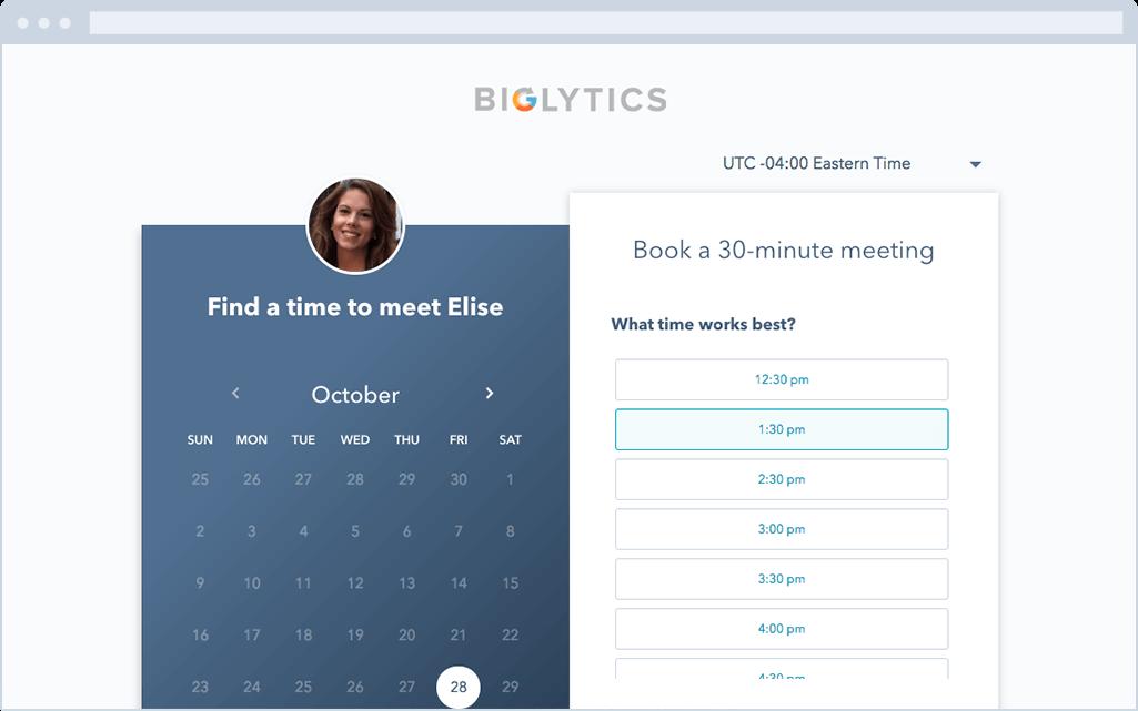 best digital marketing tool for HubSpot users to schedule meetings