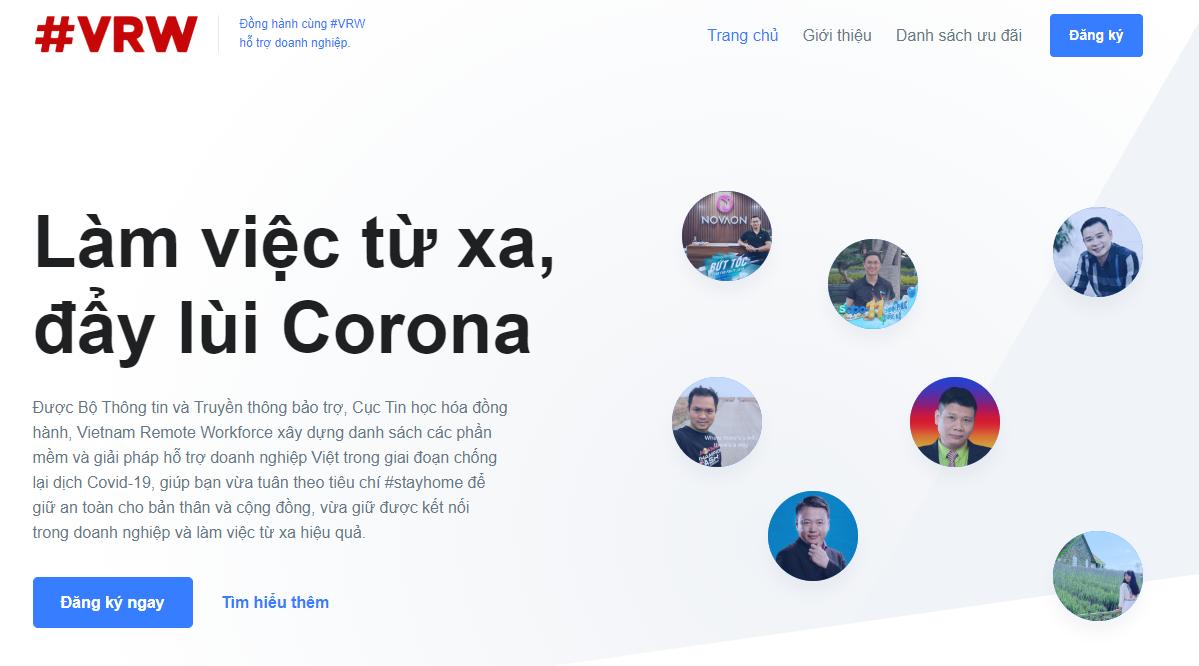 """Chương trình Vietnam Remote Workforce """"Làm việc từ xa, đẩy lùi Corona"""""""