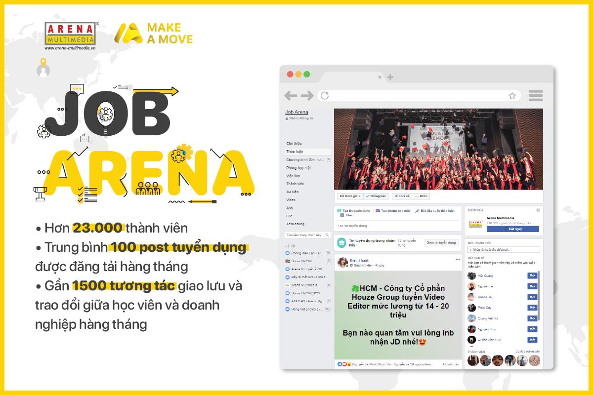 Job arena - kênh việc làm cho học viên