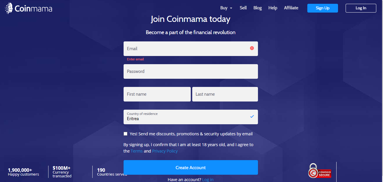 coinmama review - fastest way to purchase bitcoins and altcoins