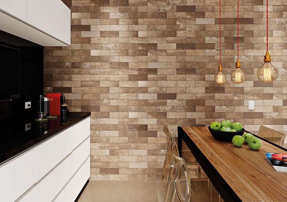 Gạch ốp tường giúp không gian hiện đại hơn