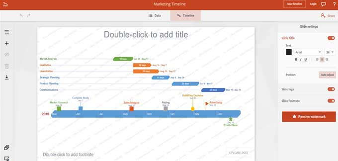 road map template power point