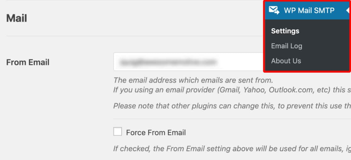 here's how to find wp mail smtp and use it.