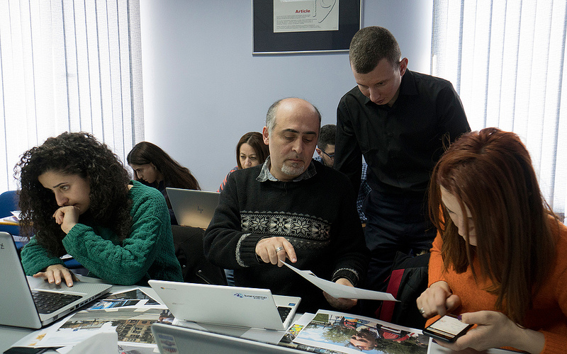 Ruslan Leviev in Yerevan, during a class