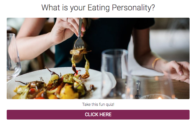 What's your eating personality? quiz cover