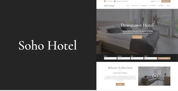Hotel Listing WordPress Website Templates