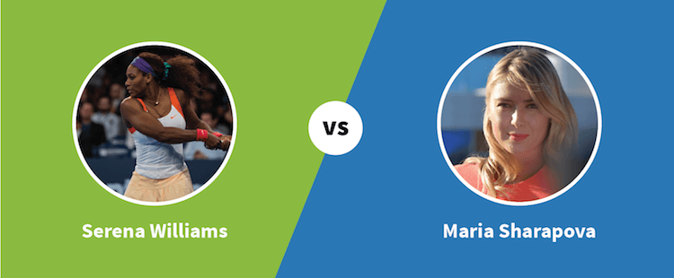 Serena Williams vs. Maria Sharapova - Paylab blog