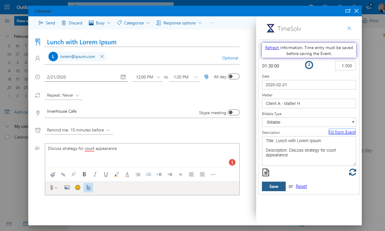 TimeSolv meeting screenshot