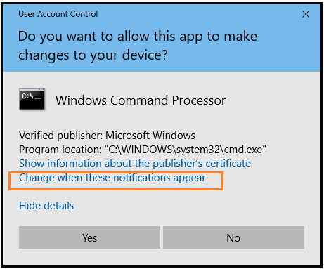 Disable User Account Control in Windows 10 through the Prompt