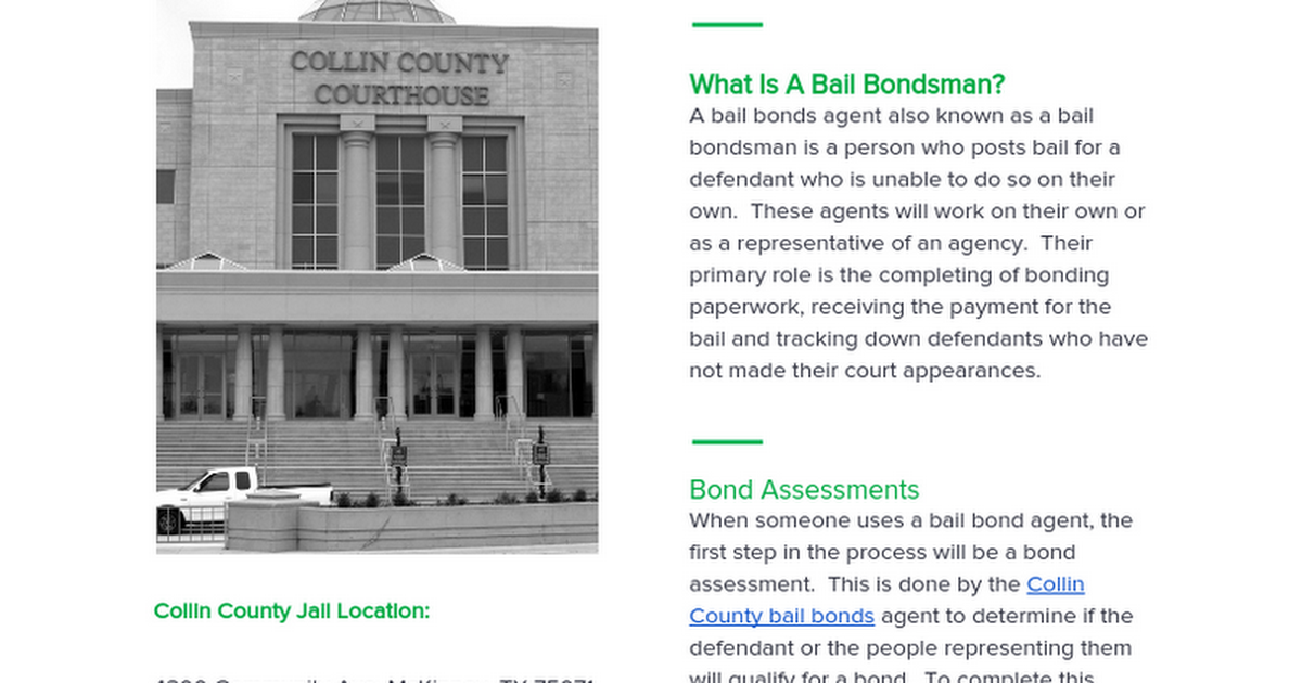 Thumbnail for How Collin County Bail Bonds Work