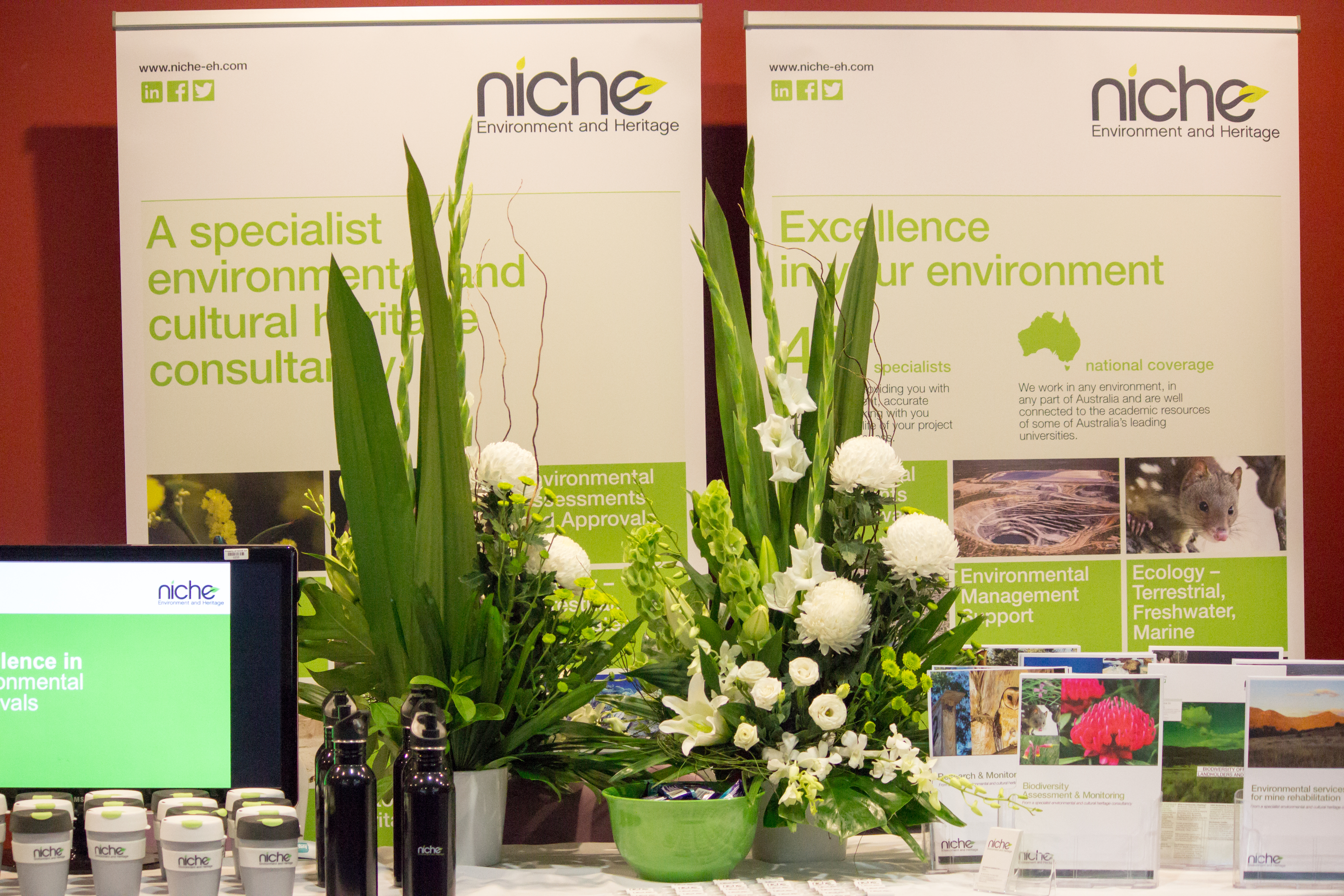 One of the more colourful exhibits was from Niche Environment and Heritage (also a session sponsor)