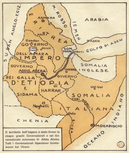 Cartina Italia Politica 1940.Africa Orientale Italiana 1940 La Divisione In Scacchieri