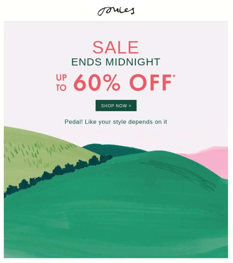 promotional email example