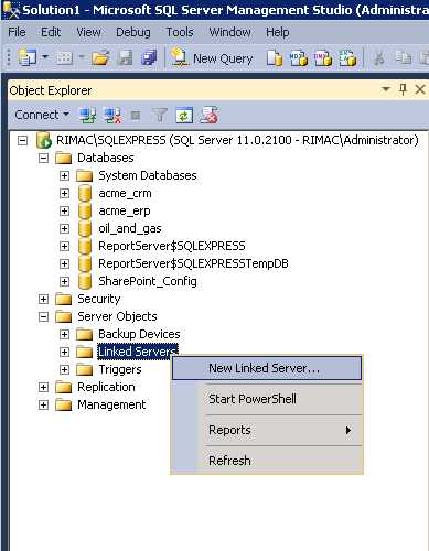 Accesing Microsoft SQL Server Linked Servers