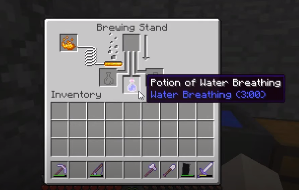 How To Make Potion Of Water Breathing 8 00 Minecraft Recipe