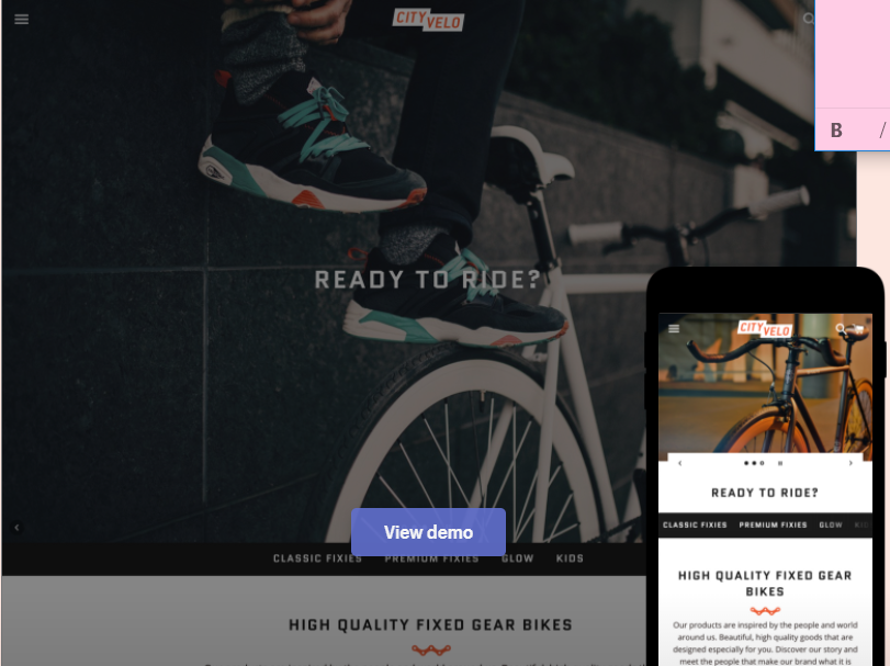 shopify free theme: Boundless - Vibrant style