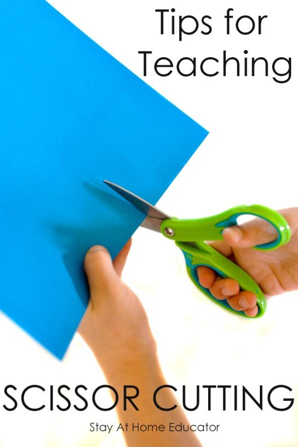 Scissor cutting requires coordination and dexterity. Every child needs scissor cutting practice. Follow these simple tips to make teaching your preschooler to cut with scissors a cinch!