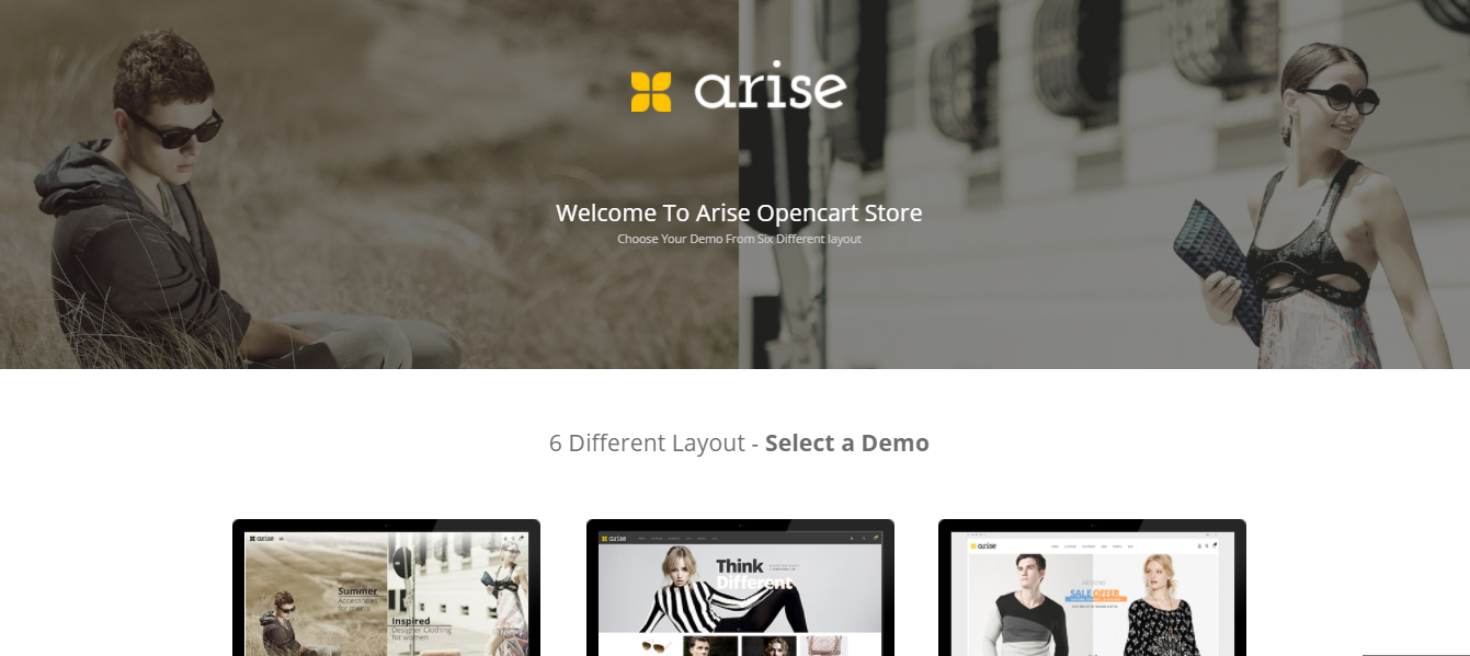 Arise - Cosmetic opencart theme: