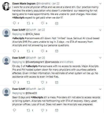 tweets, allscripts, hashtag