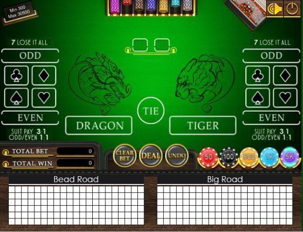 pilihan taruhan di dragon tiger