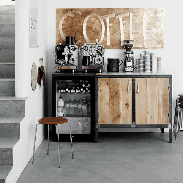 Home Coffee Bar with Hot and Cold