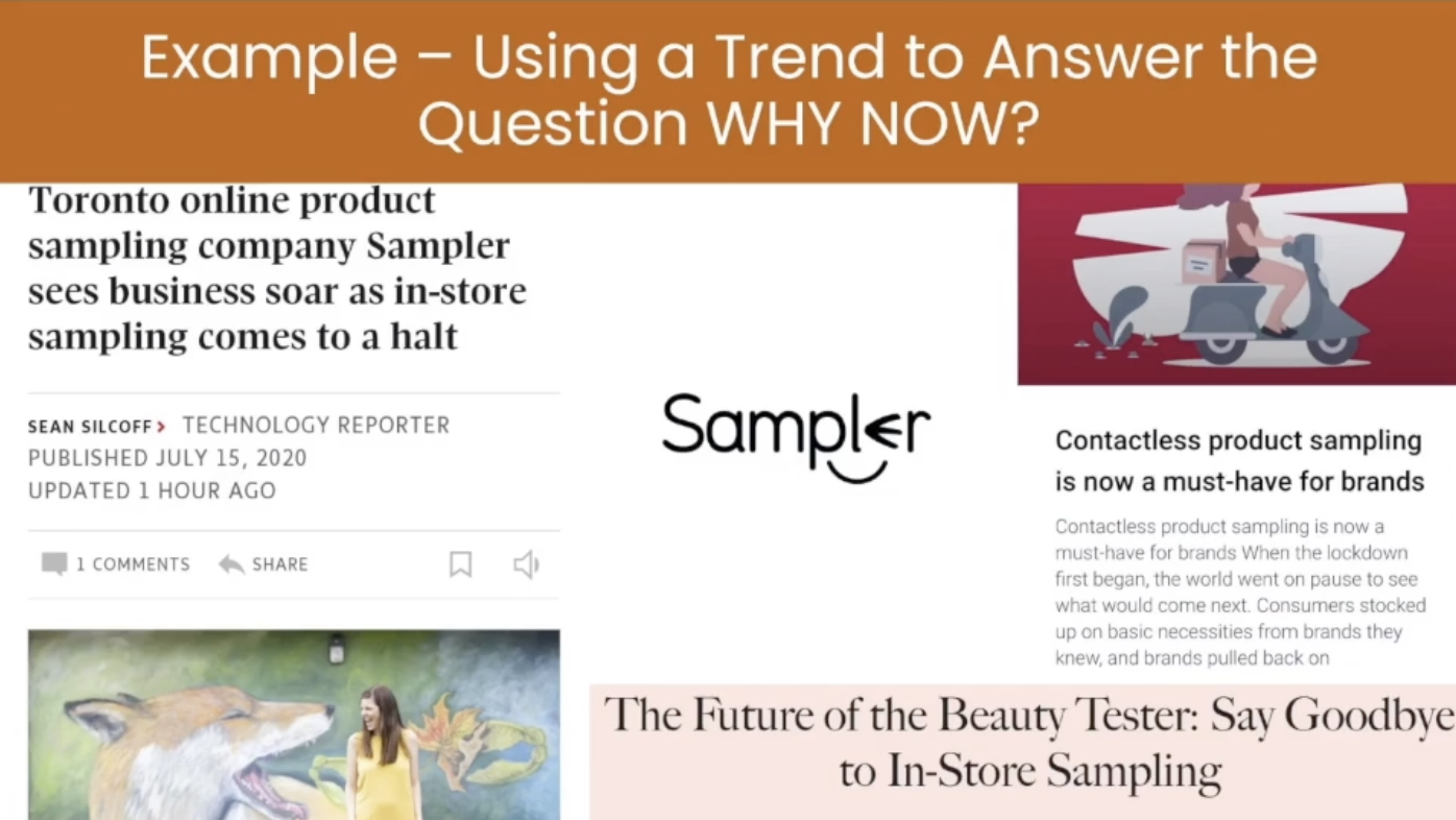 How to use a trend to answer the question: why now?