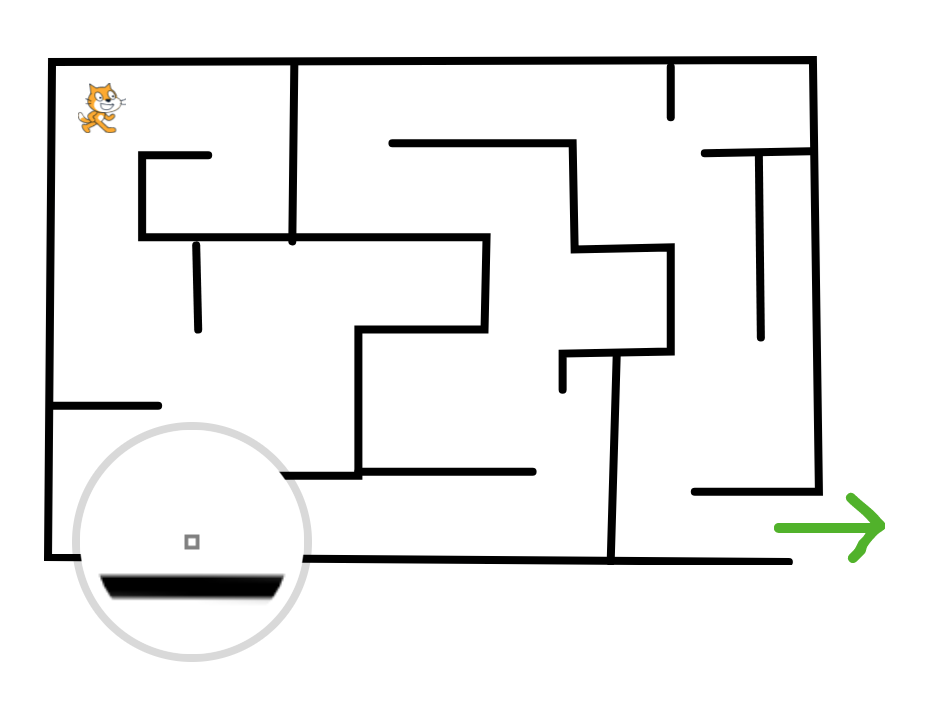 Build a maze in Scratch